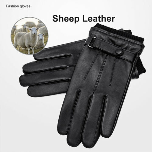 Motorcycle riding leather gloves winter waterproof Windproof Touch screen Men