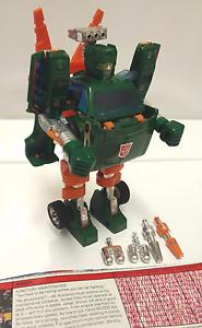 HOIST; 1982 Hasbro; G1 Vintage Transformers; COMPLETE w  tech spec
