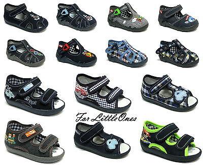 Chicos Zapatos de Lona Zapatillas Infantes Niños Sandalias Zapatillas Tamaño 3 - 9UK
