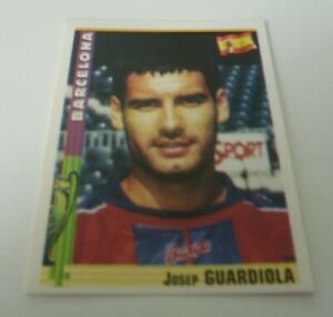 Panini Euro Football 98/9 Sticker Pep Guardiola Barcelona #14 MINT