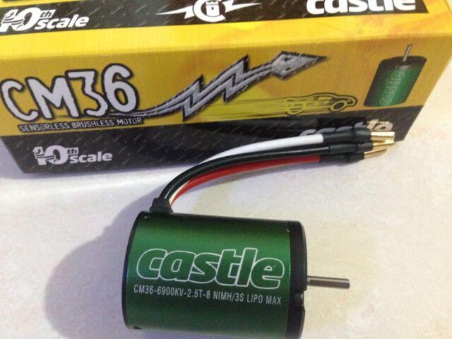 Castle CM36 6900kV 1//10th Scale Brushless Motor Car Buggy SCT Track 1406