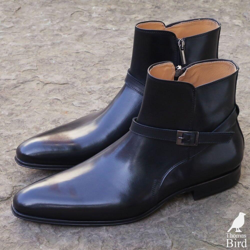 Handmade Men Black jodhpurs boot, Men Men Men ankle boots, Men leather boots 3912d3