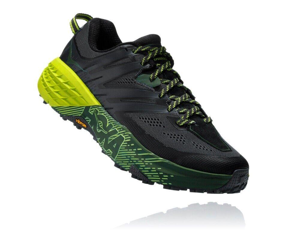 Hoka Speedgoat 3 caballeros zapatillas running Trail zapatos-negro Ebony negro