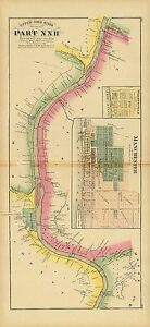 Manchester Ohio Map.1877 Map Atlas Upper Ohio River Land Ownership Manchester