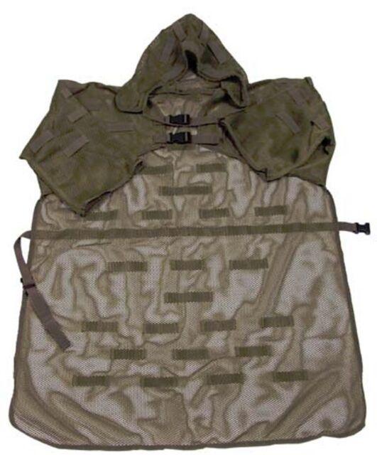 BASE GHILLIE SUIT TIPO COBRA Mash Coat w/loops SNIPER VERDE OD GREEN SOFTAIR