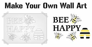 BEE HAPPY PLASTIC Stencil template all sizes precision cut 190 Mylar re-useable