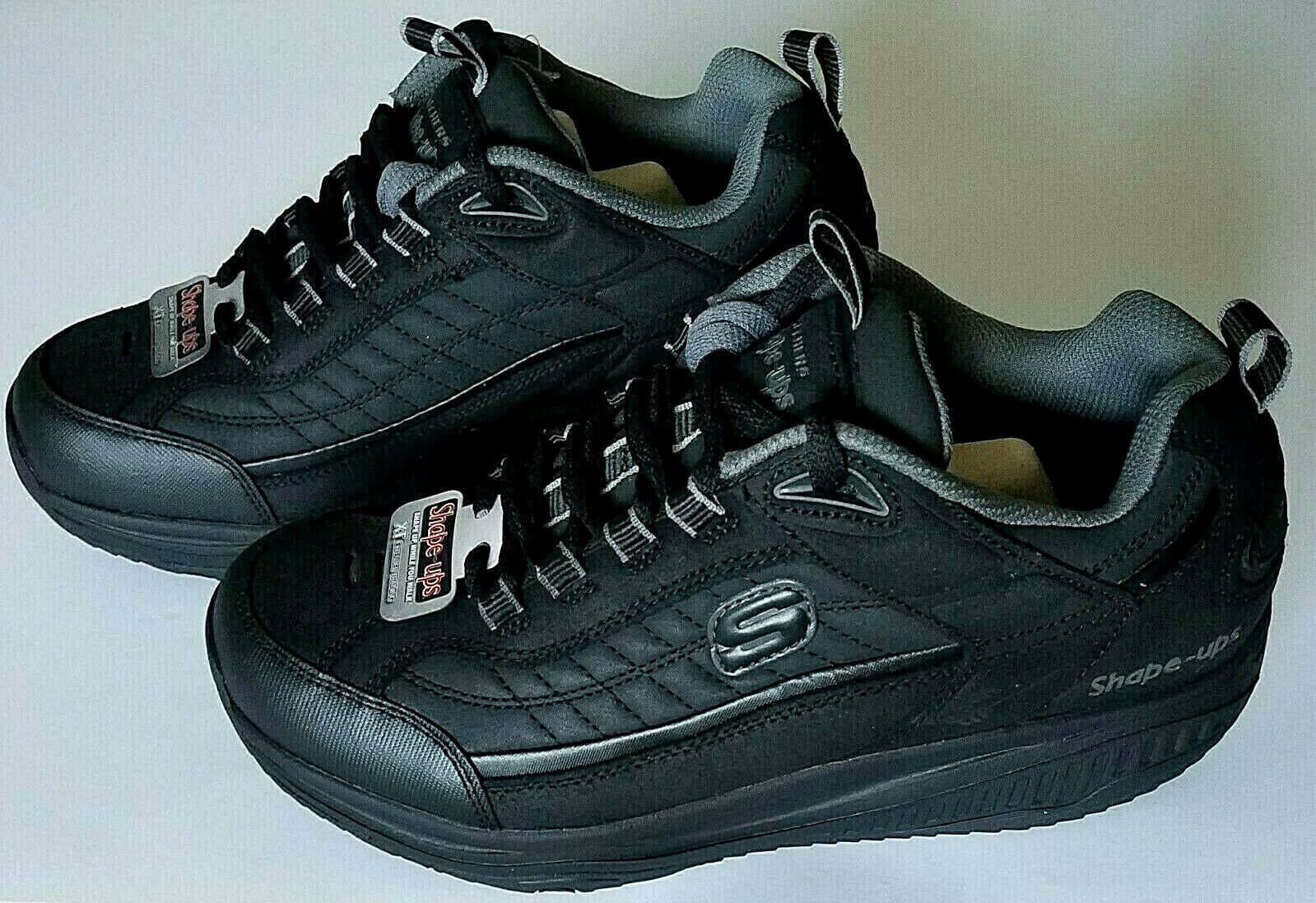 Skechers Shape-Ups XT Negro 52000-negro, para hombres Nuevo Sin Caja