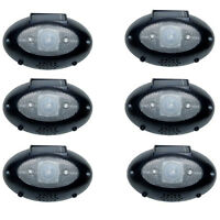 6 Pack Solar Powered Motion Detector Loud Voice Flashing Lights Security Alarm