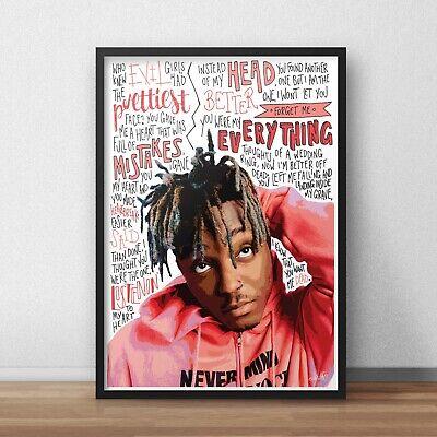 Lil Skies INSPIRED WALL ART Print Poster A4 A3 HIP HOP Rap Lyrics Rapper