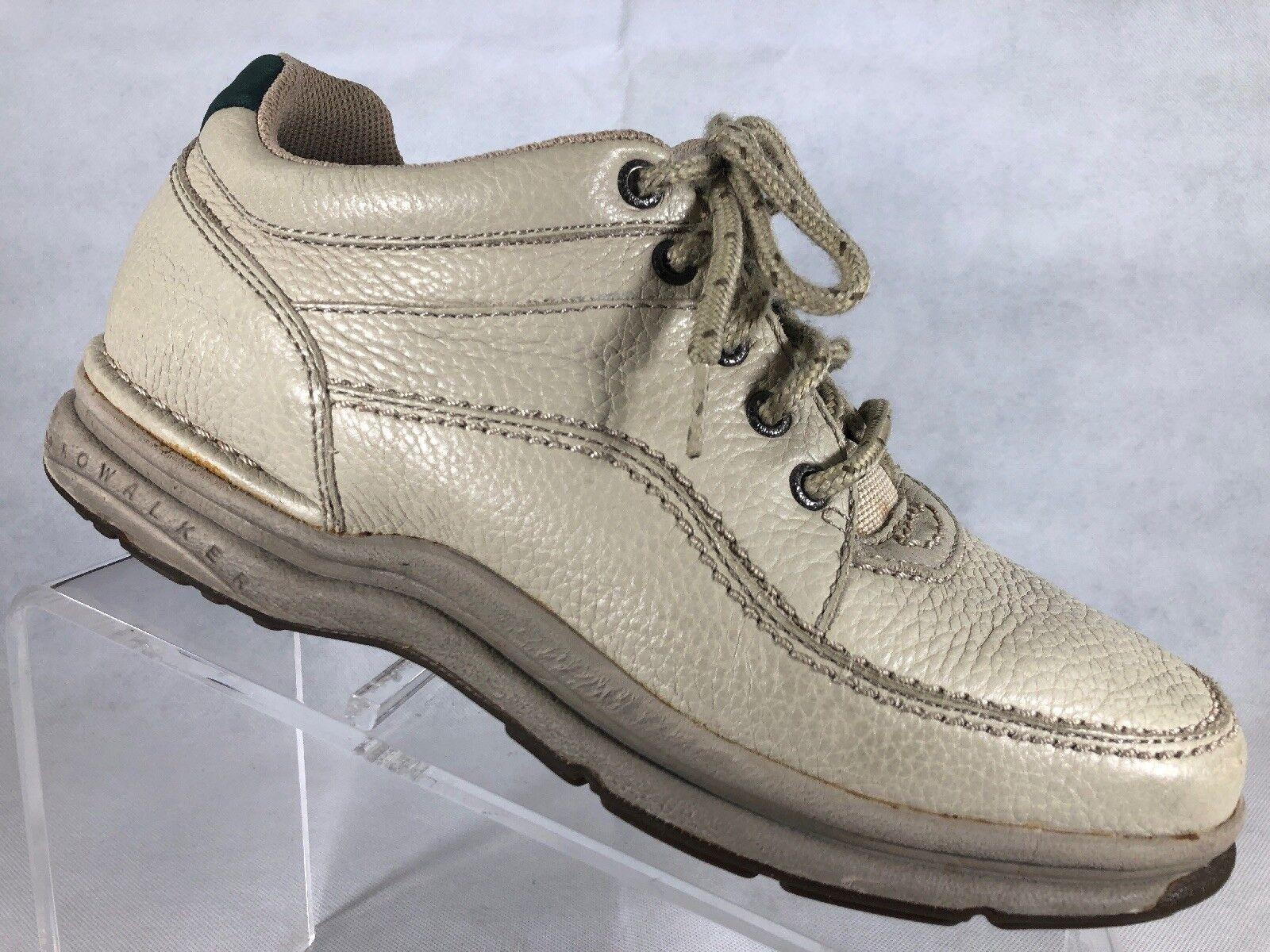 Rockport Mens Creme Leather Prowalker shoes 9W.  N2