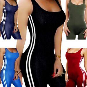 9951682e807d Image is loading Leotard-Romper-Blouse-Women-Sleeveless-Top-Jumpsuit-Shirt-