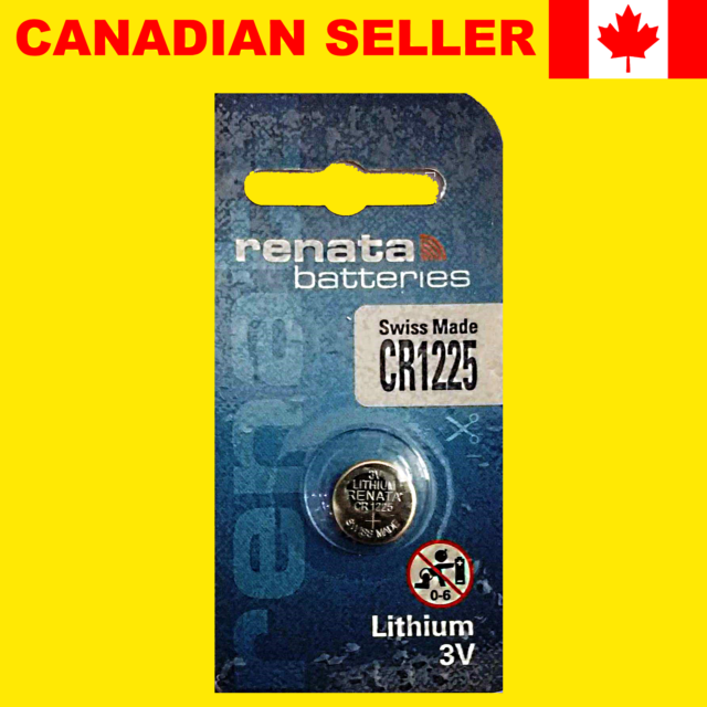 CR1225 Lithium Button Coin Cell Battery 3V ECR1225 DL1225 Watch Thermometer 1 Pc