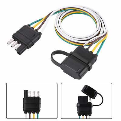 6/12/24v trailer wiring harness extension 4-pin plug flat wire connector