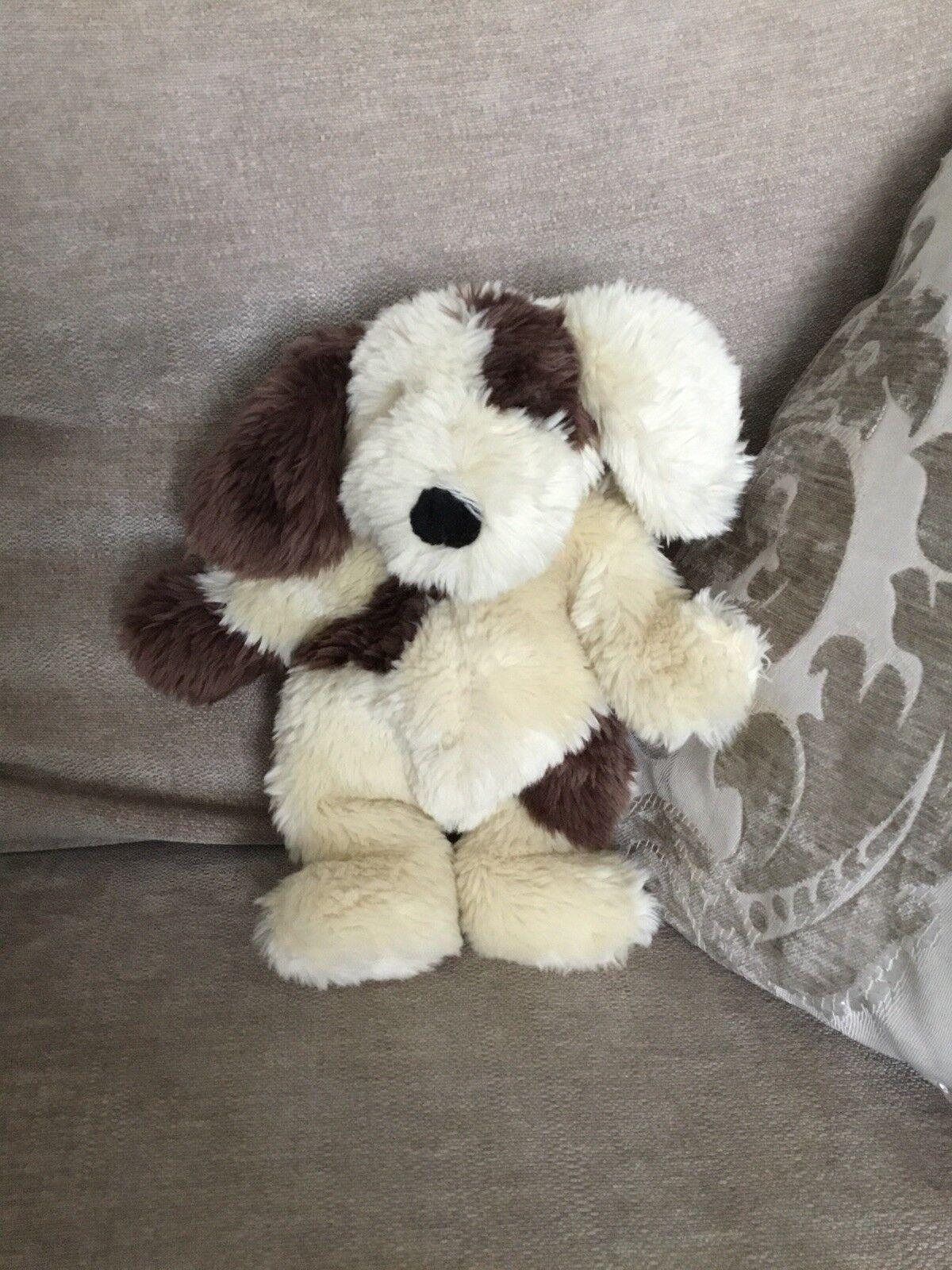 JellyCat morbidi cane cagnolino marrone e bianco panna RARA smobilizzato/1999 10