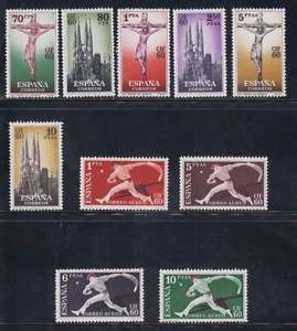 ESPANA-1960-NUEVO-SIN-FIJASELLOS-MNH-SPAIN-EDIFIL-1280-89-CONGRESO-BARCELONA