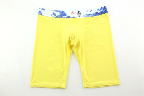 ELEGANCE Men/'s Long Jambe Boxers Trunks Qualité Doux Assort Couleurs /& Tailles Sous-vêtements