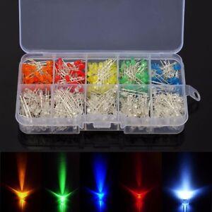 200-300-500-pz-3mm-Diodi-Alta-Luminosita-LED-Colore-bianco-rosso-blu-giallo-KIT