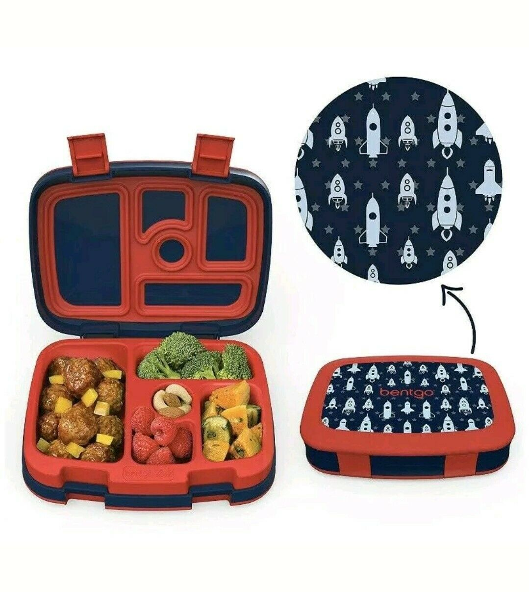 Bentgo Kids Brights 5-Compartment Bento-Style Lunch Box –... Leak-Proof