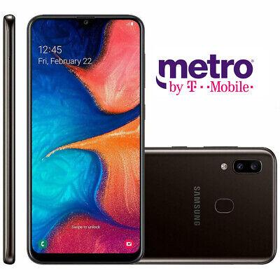 Brand New 2020 Samsung Galaxy A20 Metropcs Only 32gb Black 610214661197 Ebay