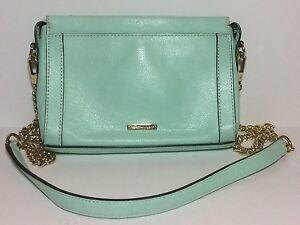 REBECCA-MINKOFF-195-Mini-Crosby-Crossbody-Bag-Mint-Green-Leather-GUC