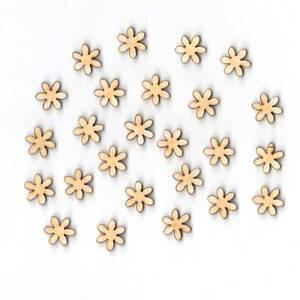 Blume-Streublume-1-5cm-25Stk-fuer-Tischdeko-Kommunion-Firmung-Holz-Scrapbooking