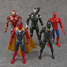 THE AVENGERS/LOTE 5 FIGURAS VISION ANTMAN IRON MAN SPIDERMAN 16-18 CM