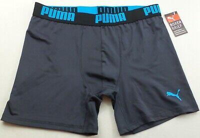 Mens Puma Sport Stretch Boxer Brief 6 Inch Inseam Medium 32-34 Black Green