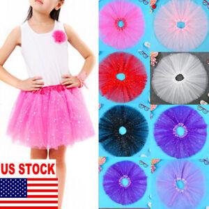 US-2019-Baby-Girls-Kids-Toddler-Short-Dress-Up-tutu-Dance-Bust-Skirt-PettiSkirt