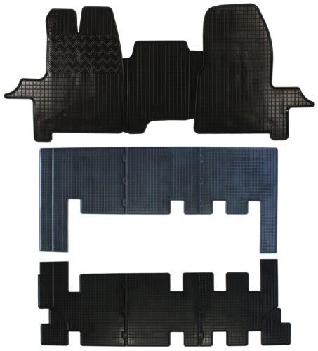 Kombi Bus 3 Reihen 9tlg Gummifußmatten für Ford Transit Custom 2012