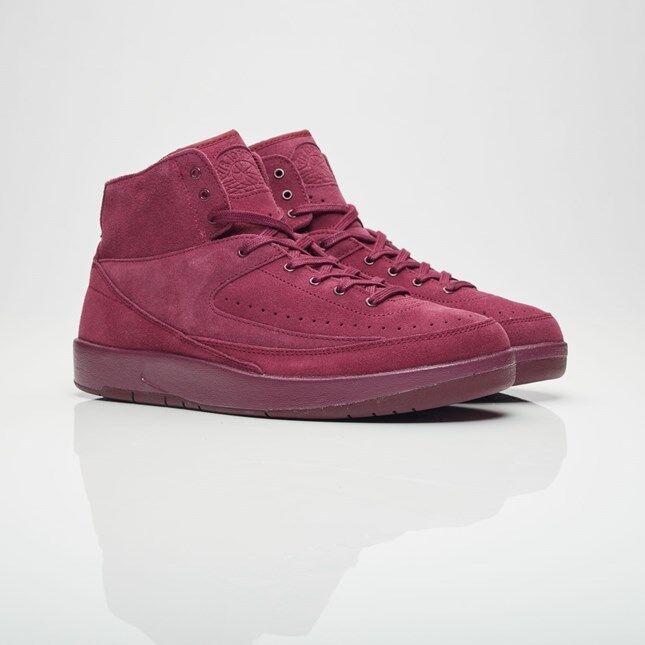 2017 Nike Air Jordan 2 II Retro Decon Bordeaux Size 8. 897521-606 psny suede