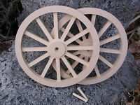Wagon & Cannon Wheels - 10 Inch Diameter Mdf Miniature Wood Civil War Paintable