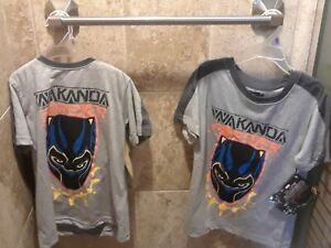Kids-Marvel-039-s-Black-Panther-Wakanda-Forever-Twin-Special-2-Tshirts-Size-7