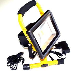 20w led akku kaltwei strahler handlampe arbeitsleuchte. Black Bedroom Furniture Sets. Home Design Ideas