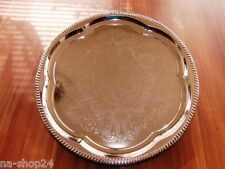 Buffetplatte Servierplatte Partyplatte RUND Metall verchromt buffet Tablett 35cm