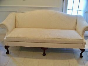 Marvelous Image Is Loading Vintage Sherrill Queen Anne Loveseat Sofa Settee Shell