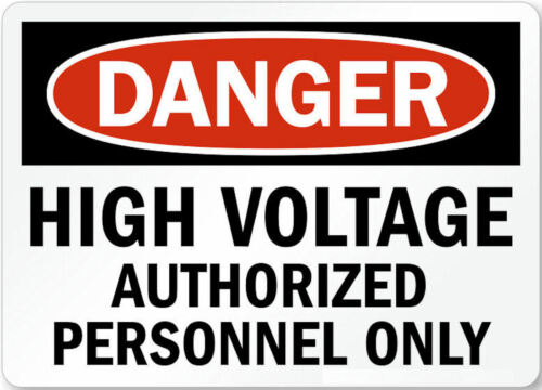 DANGER High Voltage Authorized Personnel Only Fridge Magnet Funny Picture