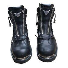 HARLEY DAVIDSON Mens BRAKE LIGHT Motorcycle Biker Black Boots 91680 Size 9.5