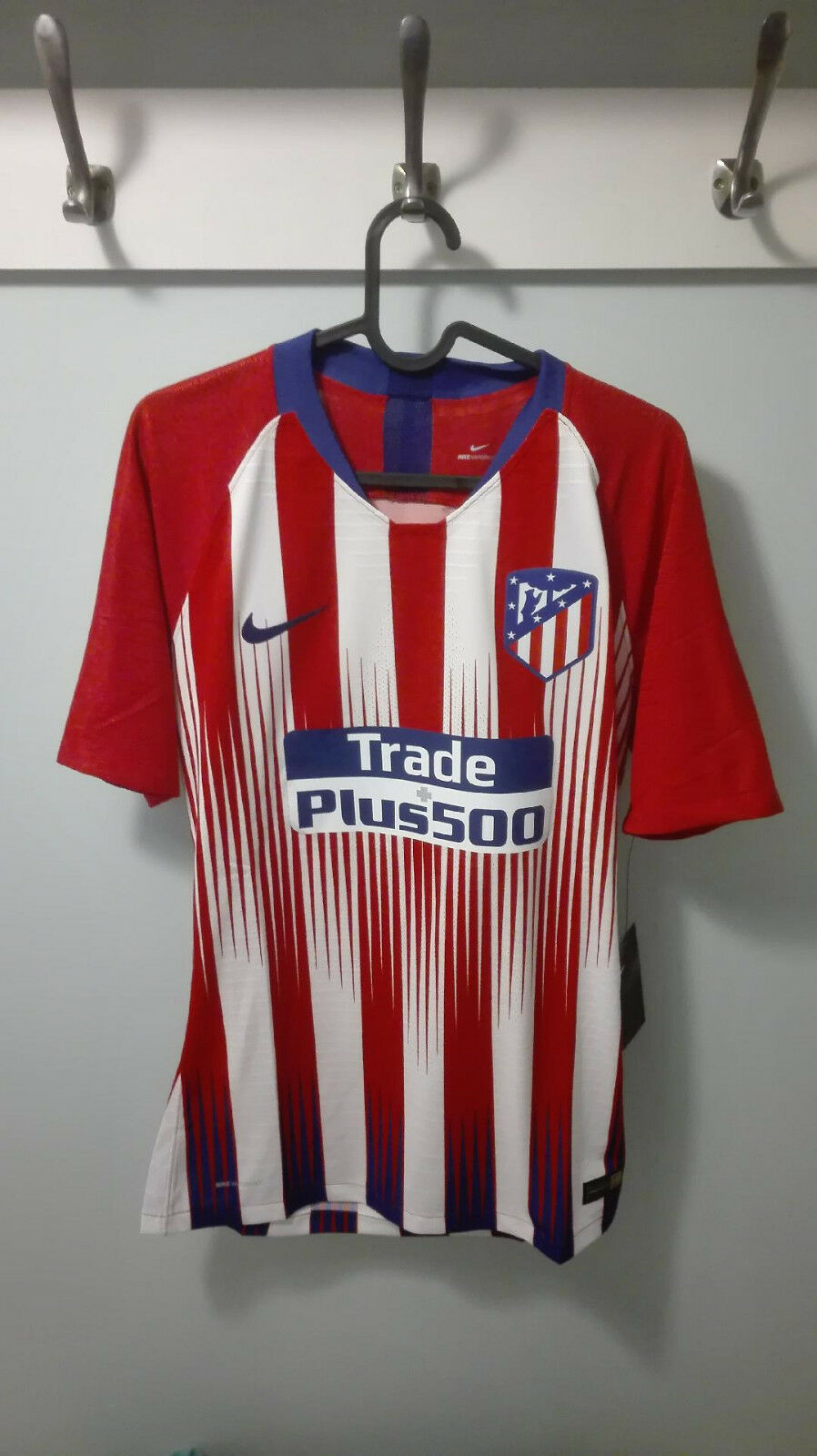 CAMISETA SHIRT ATLETICO MADRID PLAYER ISSUE MATCH UN WORN 18 19 XL + FREE SCARF