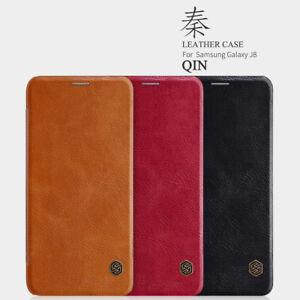 Samsung-Galaxy-J8-Nillkin-Qin-Cuir-Antichoc-Anti-Derapant-Flip-Case-Cover