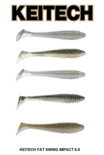 "KEITECH SWING IMPACT FAT 6.8/"" SWIMBAIT STRIPER BASS JAPAN TACKLE SELECT COLOR"