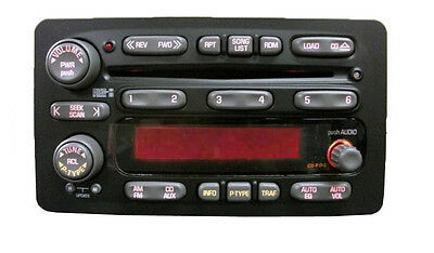 Pontiac Delco CD6 radio FACE. Worn buttons? Solve it with this new OEM part