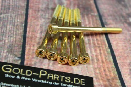 Zylinderschraube mit Innensechskant M8x75 GOLD vergoldet M8 Schraube 24-Karat