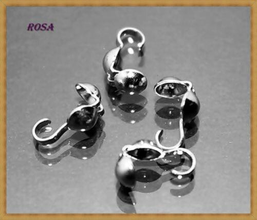EM2-EM6 Kaloten Quetschkalotten Endkappen Kappen Kupfer Silber Gold