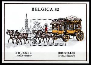 DéVoué Diligence. Belgica'82. Bloc. Belgique 1982-afficher Le Titre D'origine