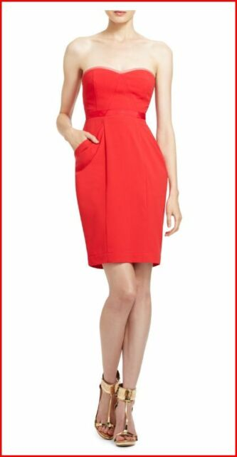"BCBG MAXAZRIA /""DAPHINE/"" RED BERRY DRESS Size 6 NWT $268-RackT//99"