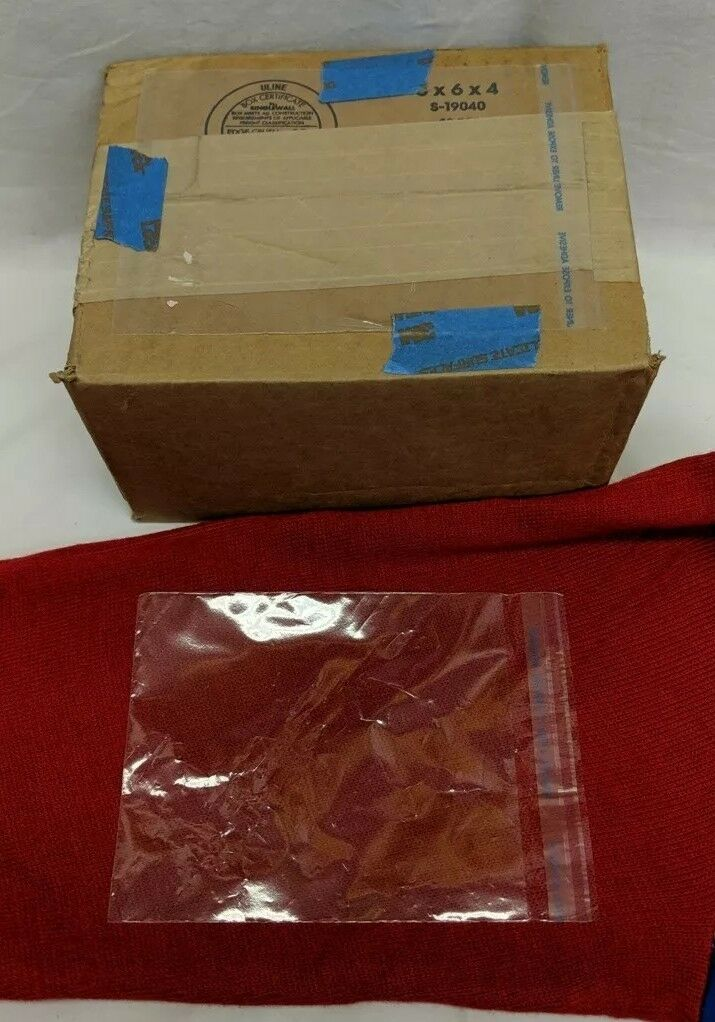 Resealable PLA Flat Bag w 1  Lip and Tape (5  x 6 ) - Case of 1000 clear