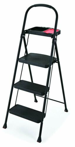 Rubbermaid RMS-3T 3-Step Steel Step Stool with Project Tray