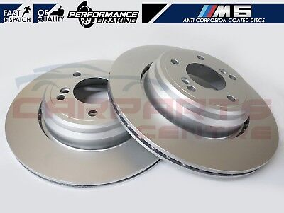 BMW M5 E39 99-03 Drilled Only High Carbon Performance Front Brake Discs 345mm