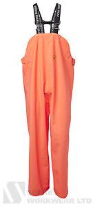 Viking Rubber Budget Bib and Brace Trousers Fishing Farming Waterproof Orange