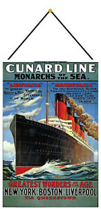 Cunard-Line-Monarchs-of-The-Sea-Sign-with-Cord-Tin-7-7-8x11-13-16in-FA0255-K